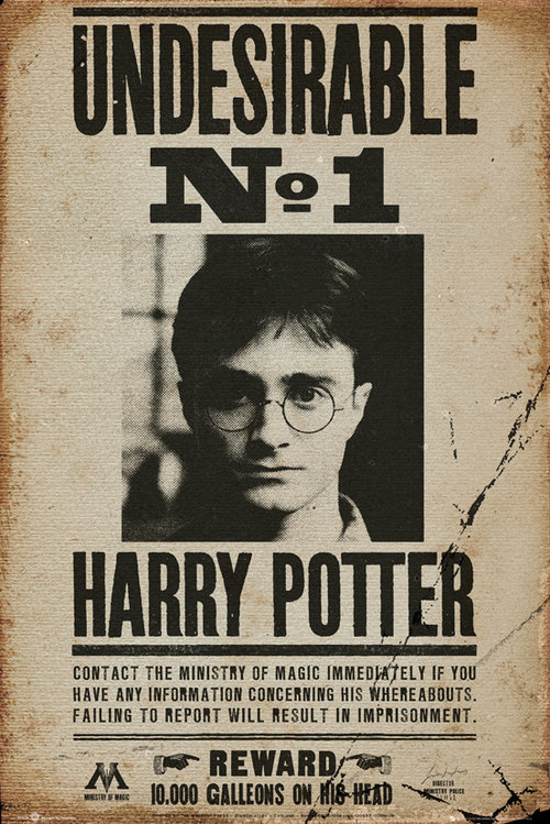 Poster Harry Potter  Undesiderable No. 1