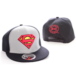 Superman verstellbares Cap - College schwarz/grau