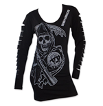 Langärmeliges T-Shirt Sons of Anarchy für Frauen