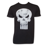 T-Shirt Black Distressed PUNISHER SKULL Logo