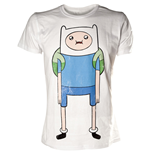 T-Shirt Adventure Time - Finn - in weiss - XL