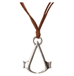 Anhänger Assassins Creed Brown Necklace Cord with Metal Symbol Logo