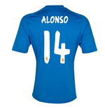 Trikot Real Madrid 2013-14 Away (Alonso 14) für Kinder