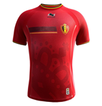 T-Shirt Belgien Fussball 2014-15 Home World Cup für Kinder