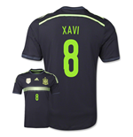 Trikot Spanien 2014-15 Away World Cup (Xavi 8) für Kinder