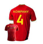 Trikot Belgien Fussball 2014-15 World Cup Home (Kompany 4) für Kinder