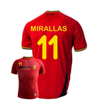Trikot Belgien Fussball  2014-15 World Cup Home (Miralas 11) für Kinder