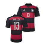 Trikot Deutschland Fussball  2014-15 World Cup Away (Muller 13)