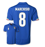 Trikot Italien Fussball 2014-15 World Cup Home (Marchisio 8)