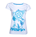 Nintendo Ladies T-Shirt Blue Mario