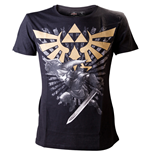 T-Shirt The Legend of Zelda Gold Link Logo Small
