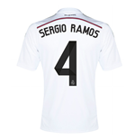 Trikot Real Madrid 2014-15 Home (Sergio Ramos 4) für Kinder