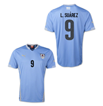Trikot Uruguay Fussball 2014-15 World Cup Home (L-Suarez 9) für Kinder