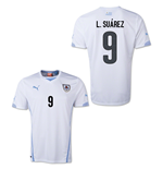 Trikot Uruguay Fussball 2014-15 World Cup Away (L.Suárez 9) für Kinder