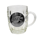 Game of Thrones Bierglas Stark Metallic Logo