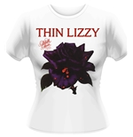 Shirts Thin Lizzy Black Rose