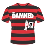 T-Shirt The Damned Burglar (Stripes) in rot
