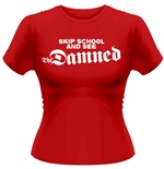 T-Shirt The Damned SKIP SCHOOL in rot