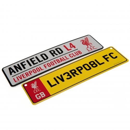 Schilder Liverpool FC Window Fridge Sign Set