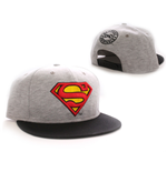 Superman Baseball Cap Vintage Logo grey