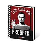 The Big Bang Theory Notizbuch A5 Live Long And Prosper