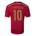 Trikot Spanien Fussball 2014-2015 World Cup Home (Fabregas 10) - für Kinder