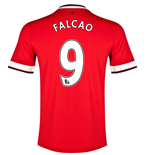 Trikot 2014-2015 Manchester United Home (Falcao 9) -für Kinder