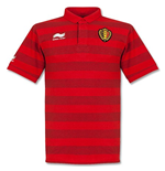 Polohemd Belgien Fussball 2014-15 Stripe Travel