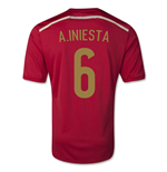 Trikot Spanien Fussball 2014-15 World Cup Home (A.Iniesta 6)- für Kinder