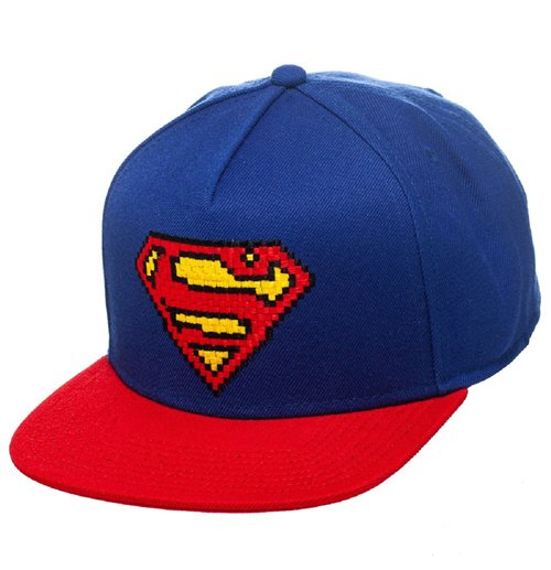 Superman Snap Back Hip Hop Cap Pixel Logo