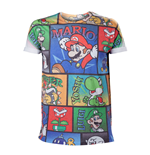 T-Shirt Super Mario NINTENDO Super Mario Bros. All over Mario & Co - Large