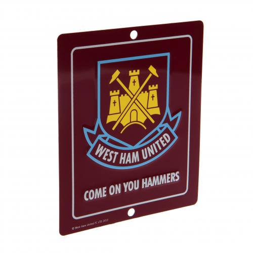 Schild West Ham United F.c. Window Sign SQ