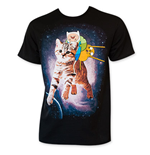 T-Shirt Adventure Time - Riding Cat