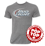 T-Shirt Bud Light Faded Logo Pop Top