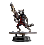 Guardians of the Galaxy Action Hero Vignette 1/9 Rocket Raccoon Red Suit Ver. 18 cm