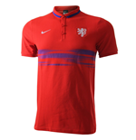 Polohemd Holland Fussball 2015-2016 (Rot)