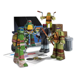 Teenage Mutant Ninja Turtles Papercraft Figuren Set Team Ninja Turtles Pack