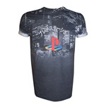T-Shirt PlayStation City Landscape - Grösse S