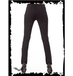 Leggings mit Wet-Look-Applikationen