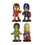 Avengers Age of Ultron Mini Wacky Wobblers Wackelkopf-Figuren 4er-Pack 7 cm