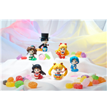 Sailor Moon Petit Chara Pretty Soldier Sammelfiguren 6 cm Make Up with Candy Sortiment (6)