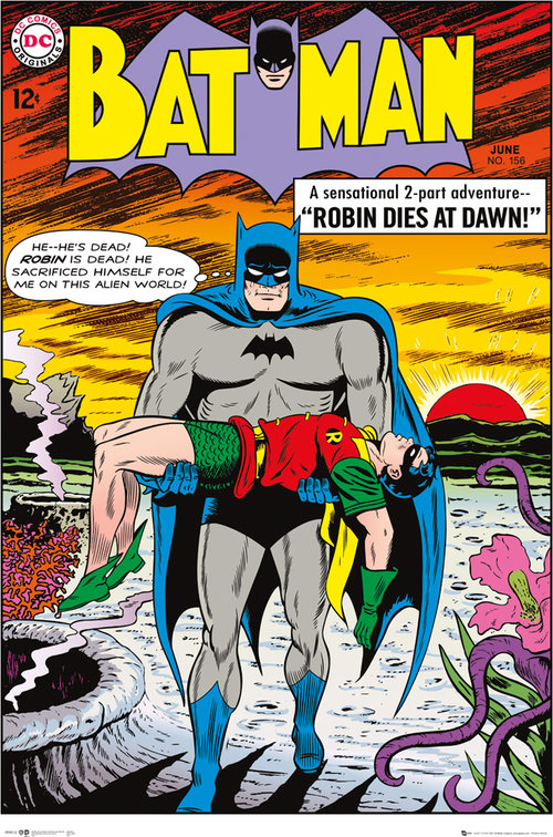 Poster Batman Comic Robin Dies at Dawn