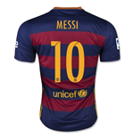 Trikot FC Barcelona 2015-2016 Home (Messi 10) für Kinder