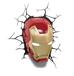 Marvel Comics 3D LED Leuchte Iron Man Mask