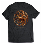 T-Shirt Game of Thrones - Chrome Targaryen Sigil