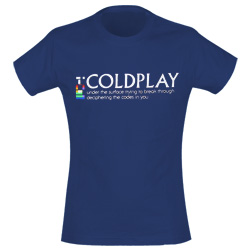 T-Shirt Coldplay  148975