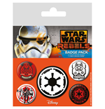 Star Wars Ansteck-Buttons 5er-Pack Villains
