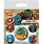 Marvel Comics Ansteck-Buttons 5er-Pack Hulk