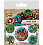 Marvel Comics Ansteck-Buttons 5er-Pack Spider-Man