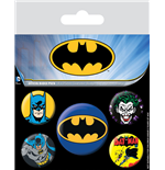 Batman Ansteck-Buttons 5er-Pack